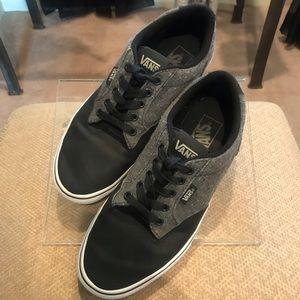 Vans, leather & tweed sneakers